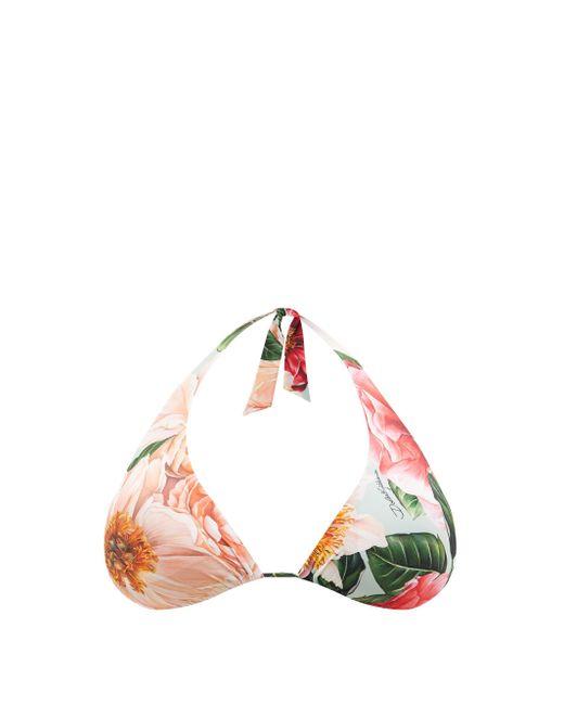 Dolce & Gabbana フローラル トライアングル ビキニトップ Multicolor