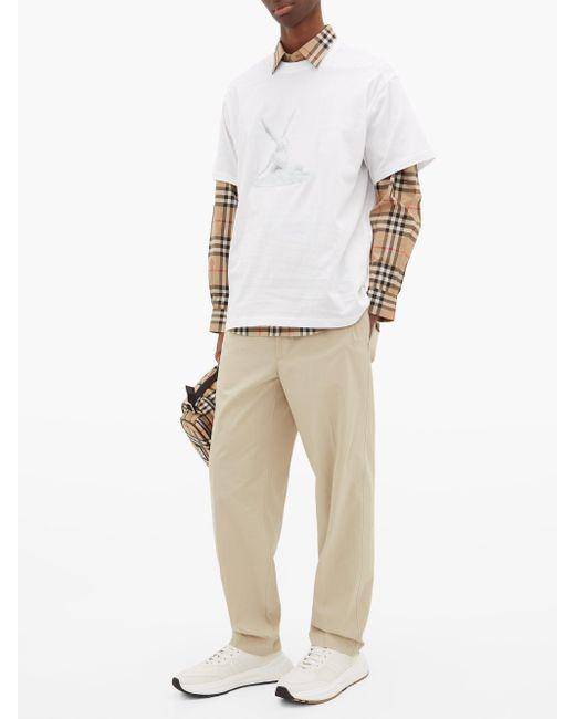 メンズ Burberry キューピッズキス コットンtシャツ White