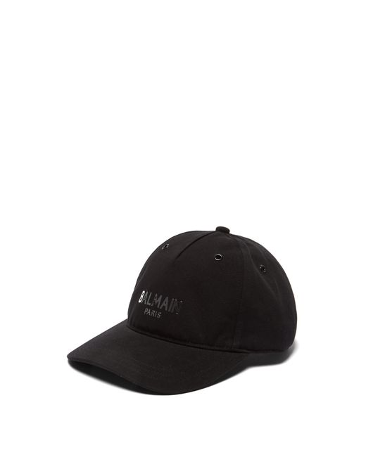 Casquette en coton à imprimé logo Balmain pour homme en coloris Black