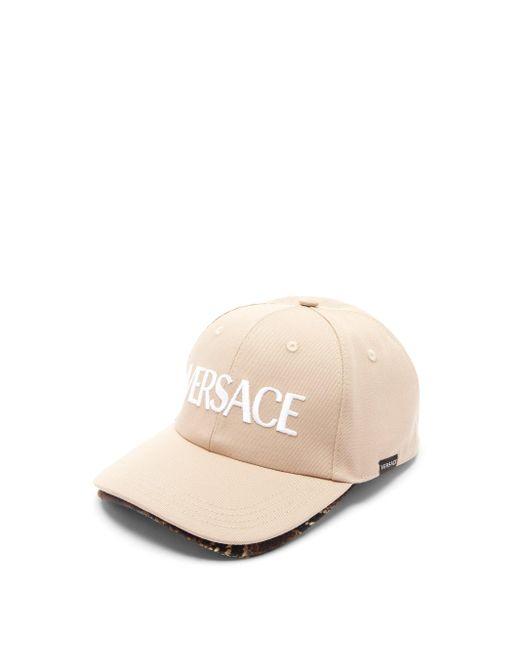 メンズ Versace キャンバスベースボールキャップ Natural
