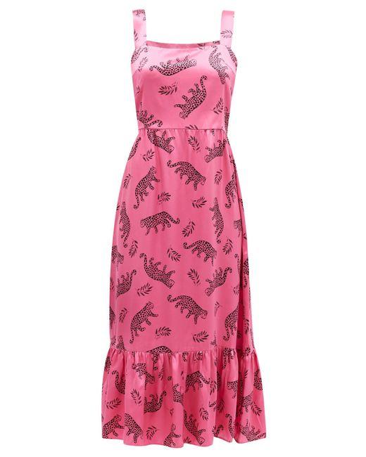 HVN オリンピア シルクサテンドレス Pink