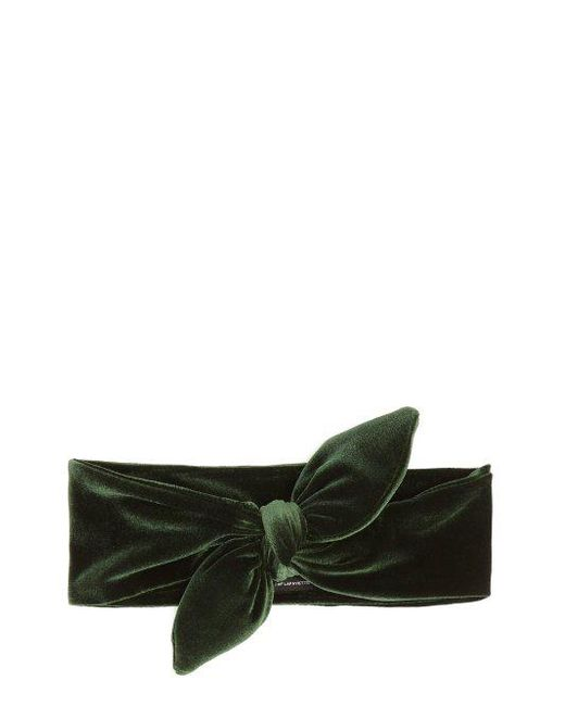 Knotted double-bow velvet hair slide House of Lafayette fy18Xp3uS