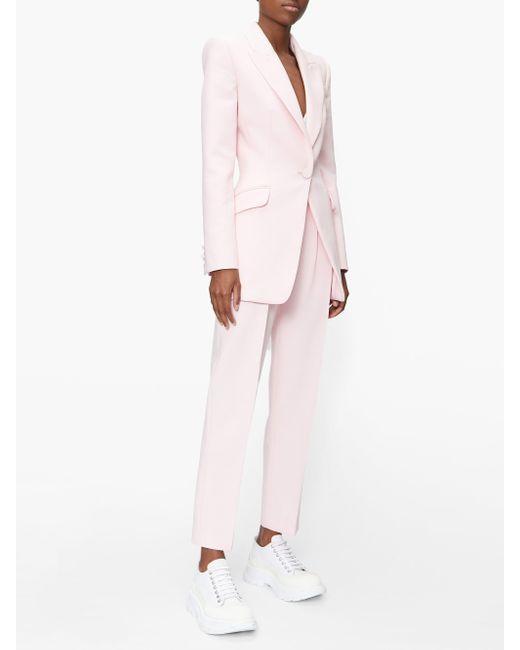 Alexander McQueen ウールブレンドジャケット Pink