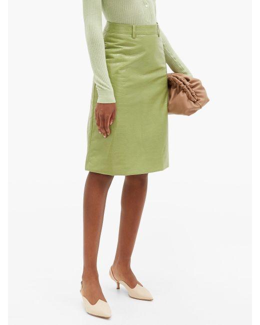 Le Monde Beryl リネン スリングバックパンプス Green