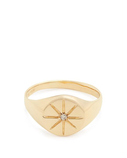 Jacquie Aiche | Metallic Diamond & Yellow-gold Ring | Lyst