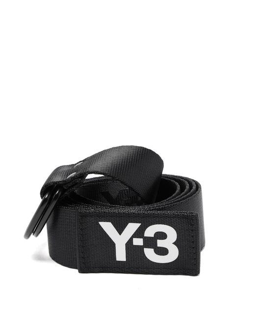 Ceinture en toile technique à imprimé logo Y-3 pour homme en coloris Black