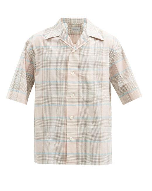 メンズ Lemaire チェック コットン ショートスリーブシャツ Multicolor