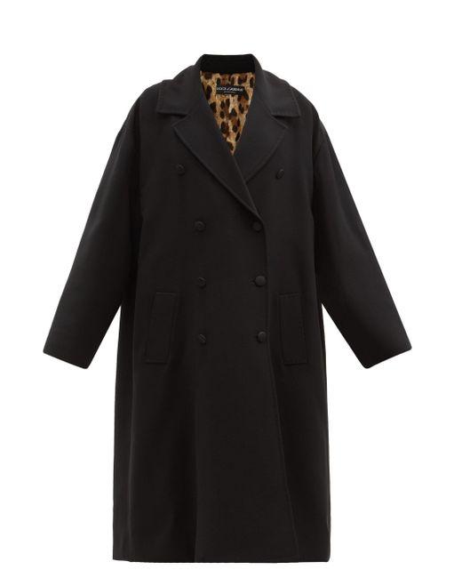 Dolce & Gabbana オーバーサイズ ダブルコート Black