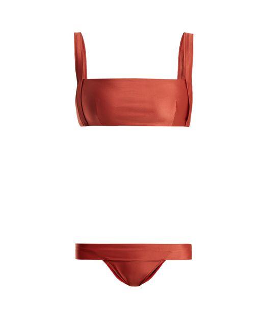 Haight Red Beca Square Neck Bikini