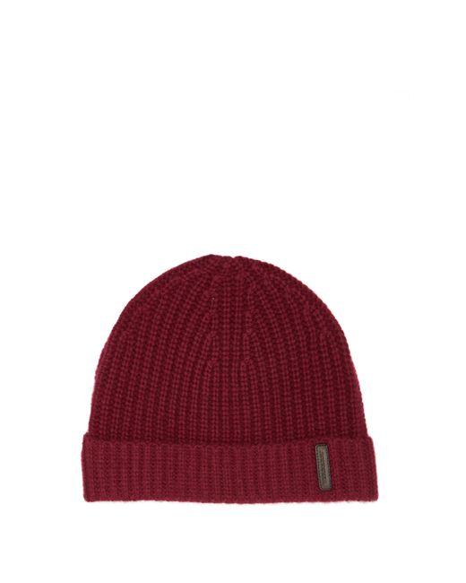 Bonnet en cachemire à empiècement logo Burberry pour homme en coloris Red