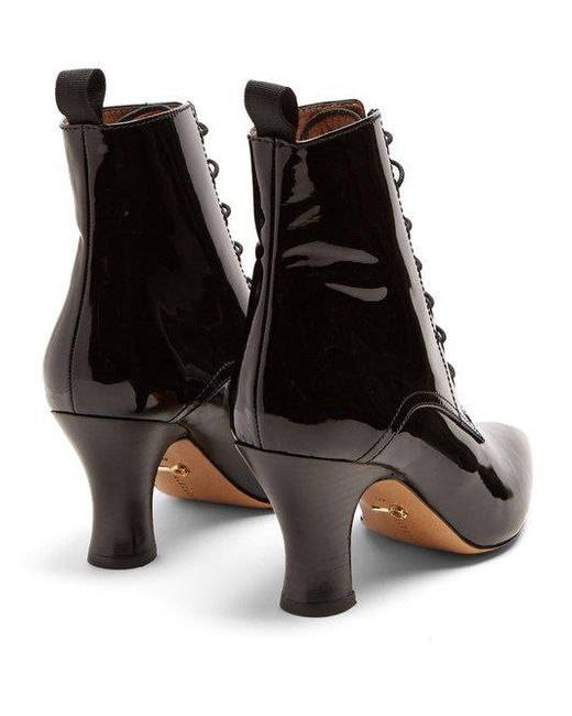 AlexaChung Victoriana patent-leather lace-up boots For Cheap Online Aaa Quality Big Discount Sale Online o6IBViT
