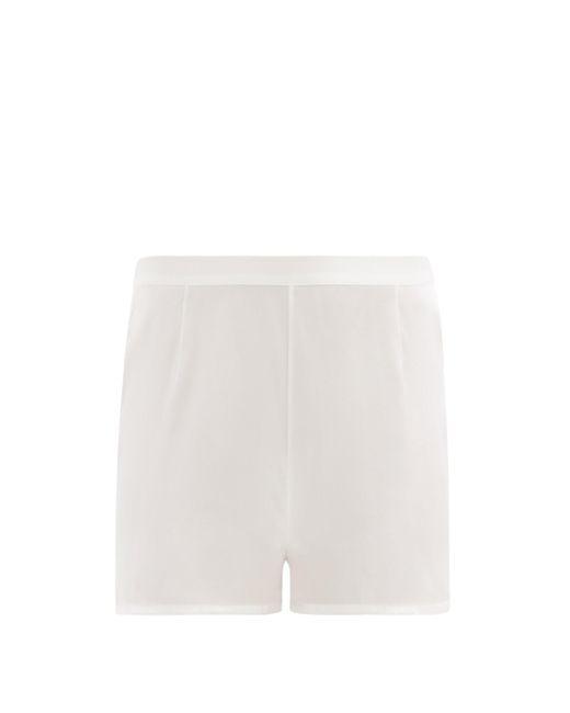 La Perla シルクサテン パジャマショートパンツ White