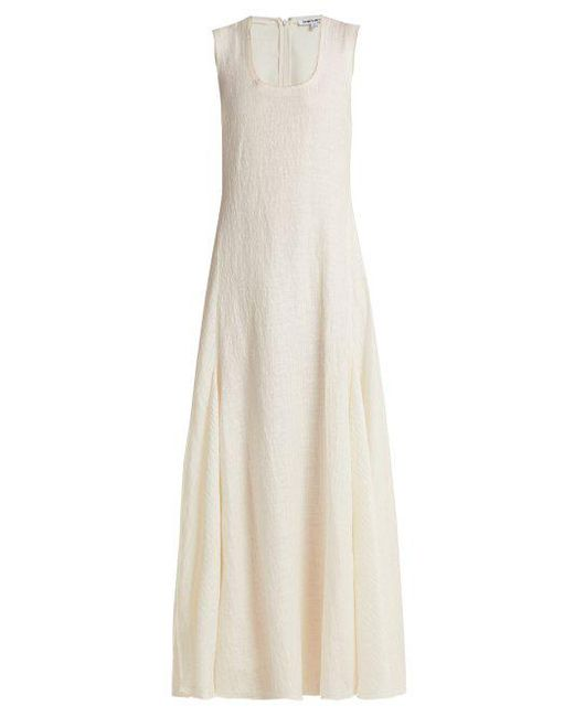 Lenox Linen-blend Maxi Dress - Off-white Elizabeth & James Clearance View Clearance Extremely How Much Sale Online Cheap Sale Very Cheap Buy Cheap Looking For OhBCCh