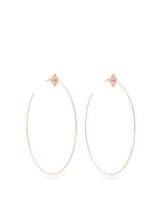 Diane Kordas   Metallic Diamond & Rose-gold Geometric Earrings   Lyst
