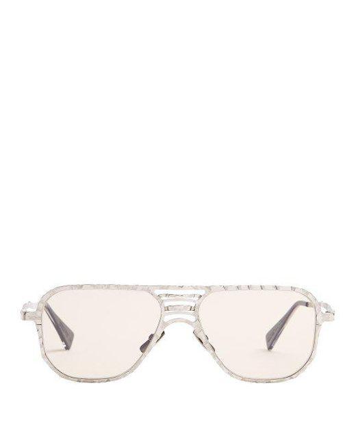 kuboraum aviator frame metal sunglasses in metallic for men lyst Matte Black Oakley Sunglasses Lenses kuboraum metallic aviator frame metal sunglasses for men lyst