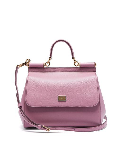Dolce & Gabbana シシリー ミディアム グレインレザーバッグ Multicolor