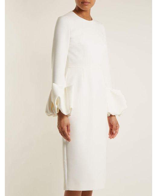 Discount Popular Clearance Lowest Price Lena puff-sleeved crepe dress Roksanda Ilincic p5iQ3ERke