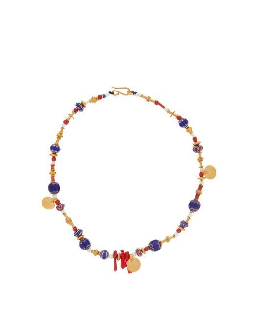 Katerina Makriyianni ベネチアンガラス 24kゴールドヴェルメイユ ネックレス Multicolor