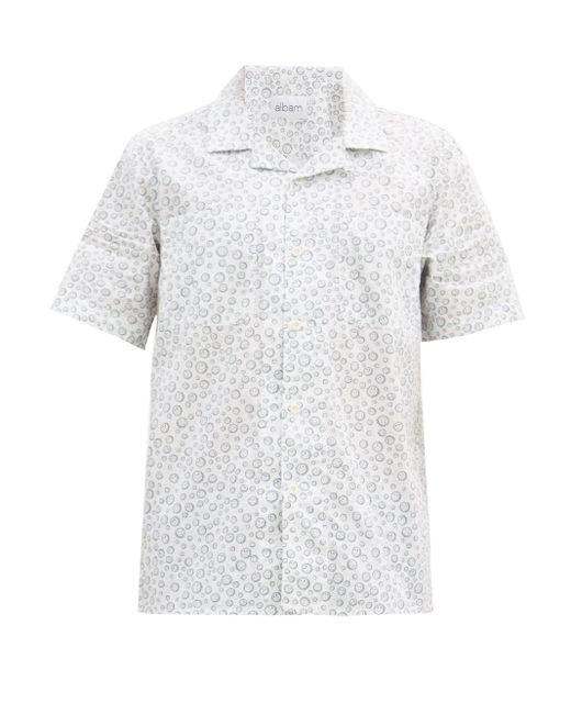 メンズ Albam ハバナ サンプリント コットンシャツ Multicolor