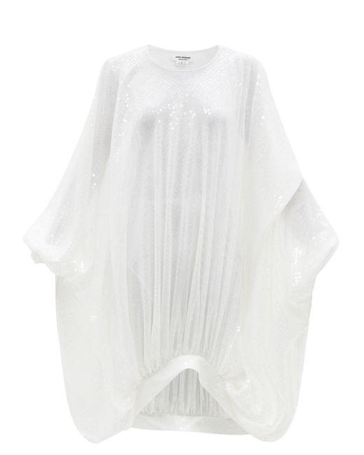 Junya Watanabe ドレープ スパンコール ボイルドレス White