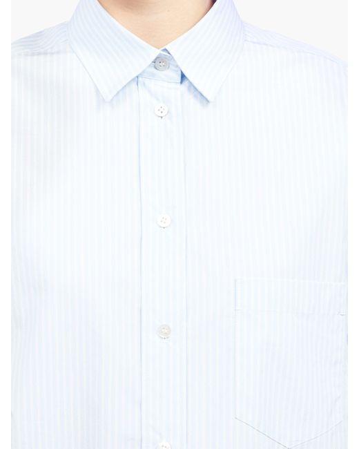 The Row リーン ストライプポプリンシャツ Multicolor
