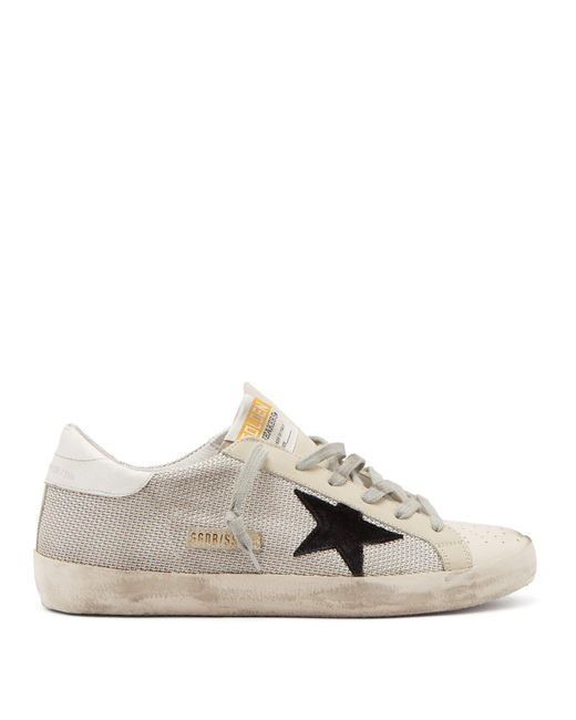 Golden Goose Deluxe Brand - White Super Star Low-top Leather Trainers - Lyst