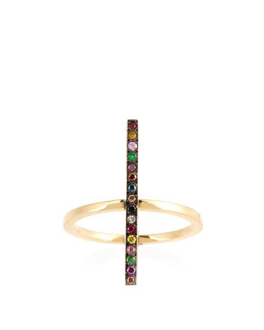 Ileana Makri | Metallic Rainbow Stones & Yellow-gold Ring | Lyst