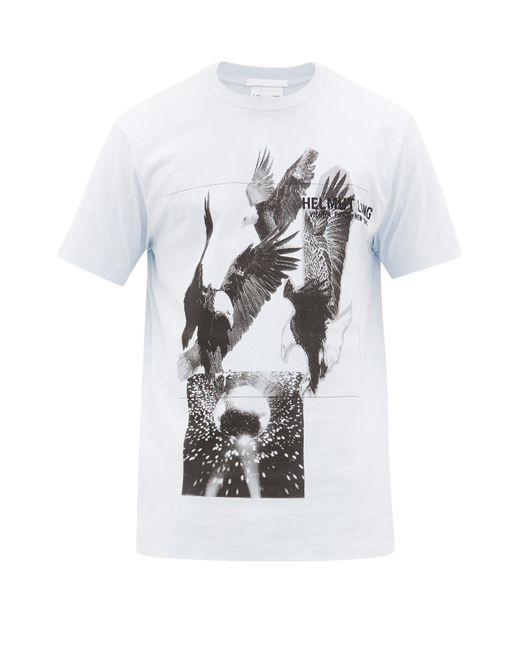 メンズ Helmut Lang イーグルプリント コットンtシャツ Multicolor