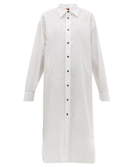Colville コットンポプリン ミディシャツドレス White