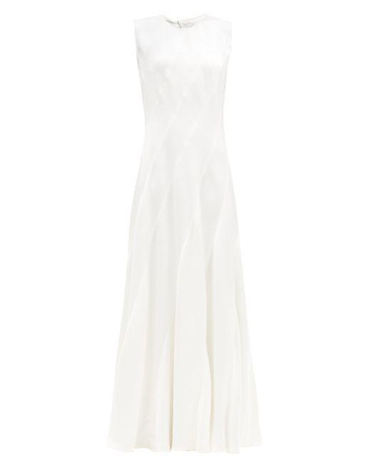 Maison Rabih Kayrouz ノースリーブ グレインサテンドレス White