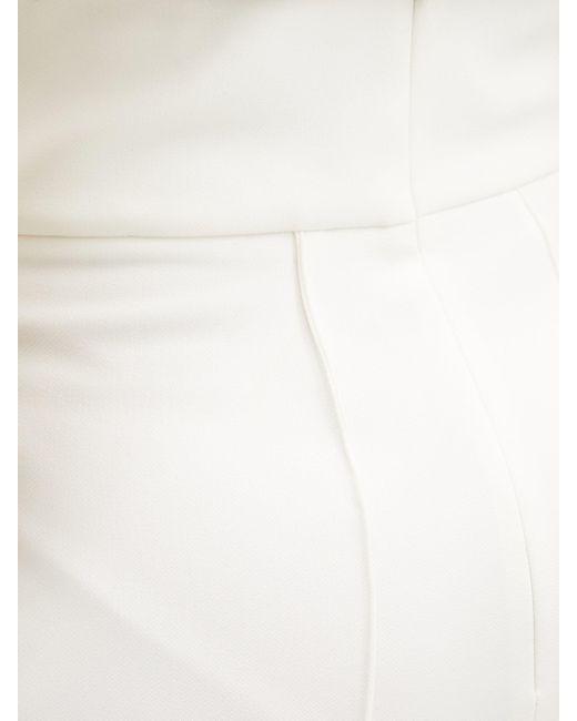 Alexandre Vauthier ピンタック スリムパンツ White