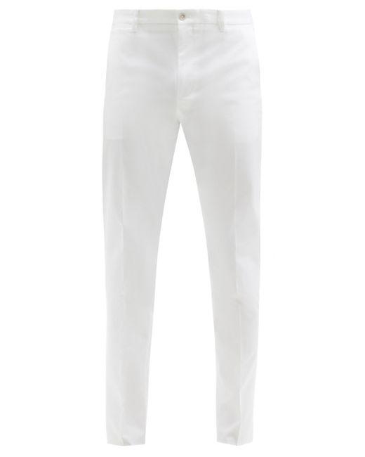 メンズ Dolce & Gabbana コットンツイル テーパードパンツ White