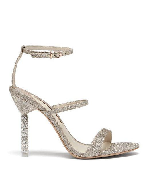 Sale Visa Payment Cheap Get Authentic SOPHIA WEBSTER Rosalind Crystal-embellished Glittered Canvas Sandals U9e2WyugK