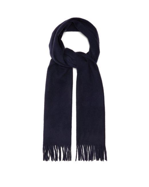 Raey ウールカシミア スカーフ Blue