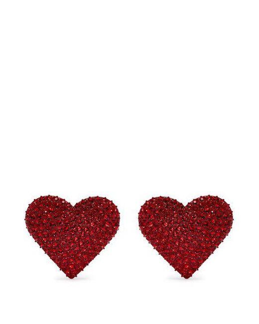 Valentino - Multicolor Crystal Hoop Earrings - Lyst