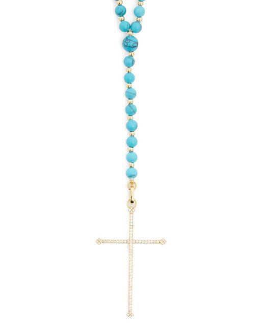 Diane Kordas - Blue Diamond, Turquoise & 18kt Gold Necklace - Lyst