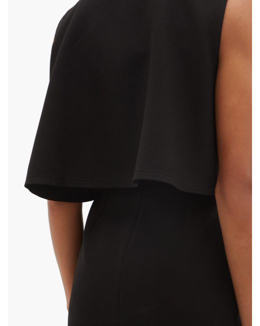 Roksanda Tresa ケープ クレープシフトドレス Black