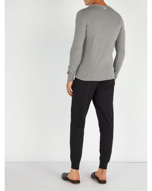 Womens Ladies Henley Cotton Jersey Top//Brushed Cotton Check Cuff Pant Pyjamas