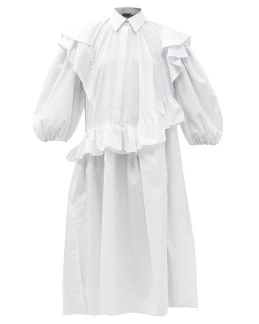 Preen By Thornton Bregazzi エミコ オーガニックコットンブレンドドレス White