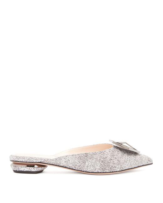 Nicholas Kirkwood - Multicolor Eden Crystal Embellished Bouclé Backless Loafers - Lyst