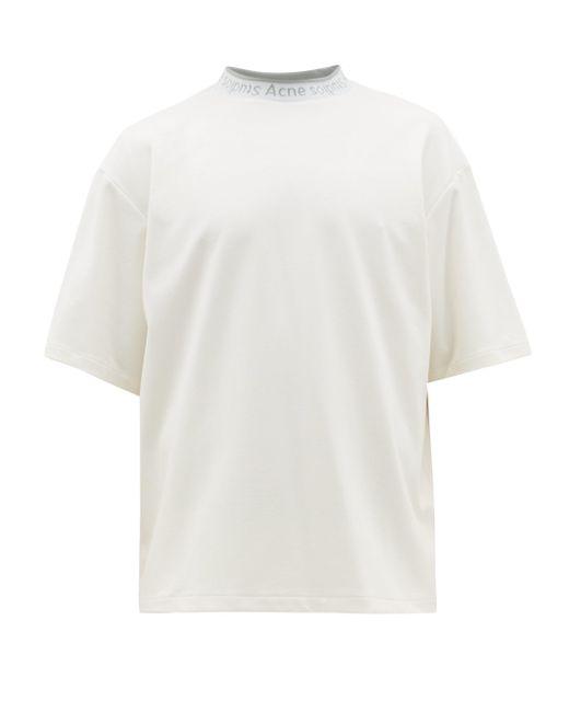メンズ Acne エクストア コットンtシャツ White