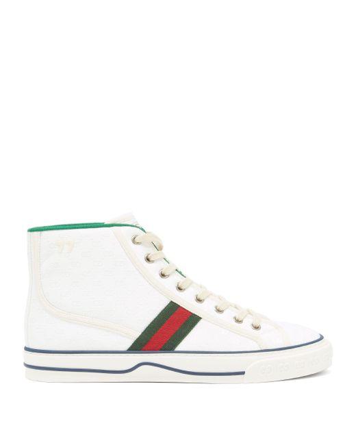 Gucci ホワイト Tennis 1977 ハイトップ スニーカー White