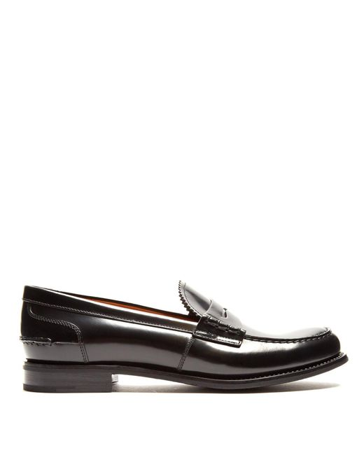 Church's - Black Sally R Leather Penny Loafer - Lyst