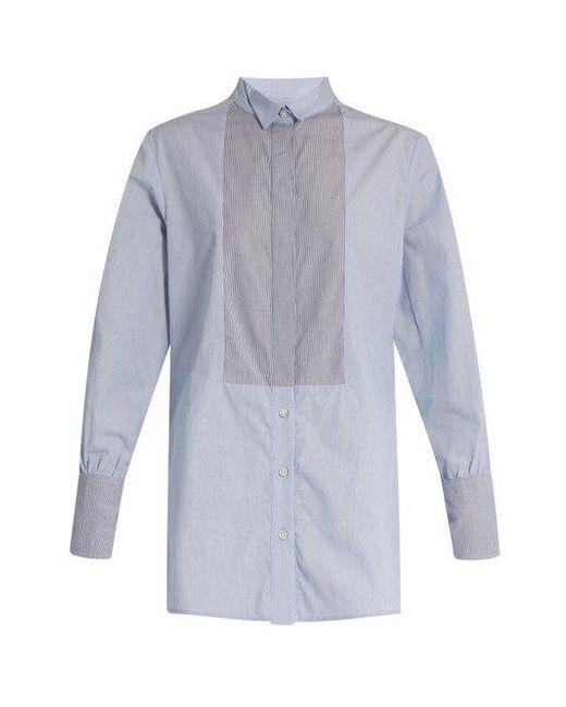 Rachel Comey - Blue Griffith Striped Cotton Shirt - Lyst
