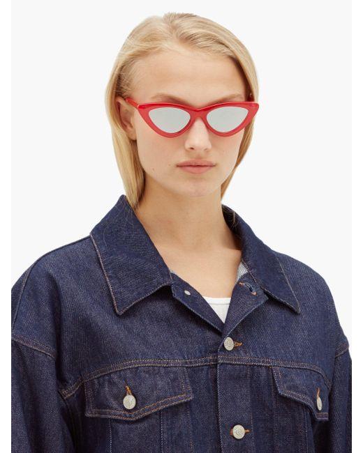 Le Specs The Last Lolita キャットアイサングラス Blue