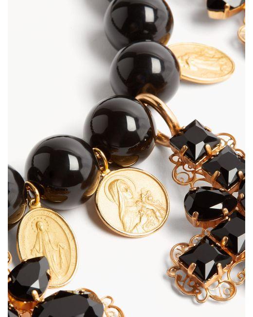 Dolce & Gabbana ビーズ クロスディテール チョーカーネックレス Multicolor