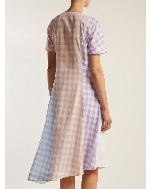 Gingham cotton-blend dress Loewe Order Online Buy Cheap Countdown Package 1XNddmTw5b