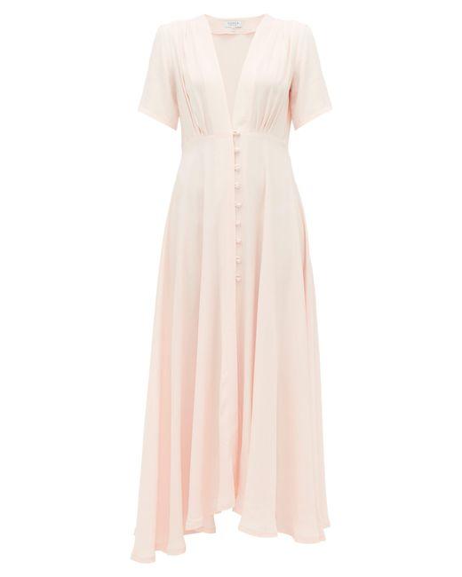 Gioia Bini Pink Carolina Short-sleeved Cady Dress