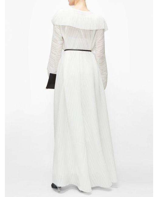 The Row ハニア プリーツジョーゼット マキシラップドレス White