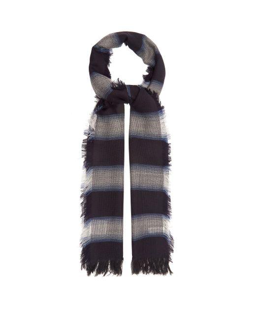 メンズ Paul Smith シャドーストライプ ウールブレンドスカーフ Multicolor